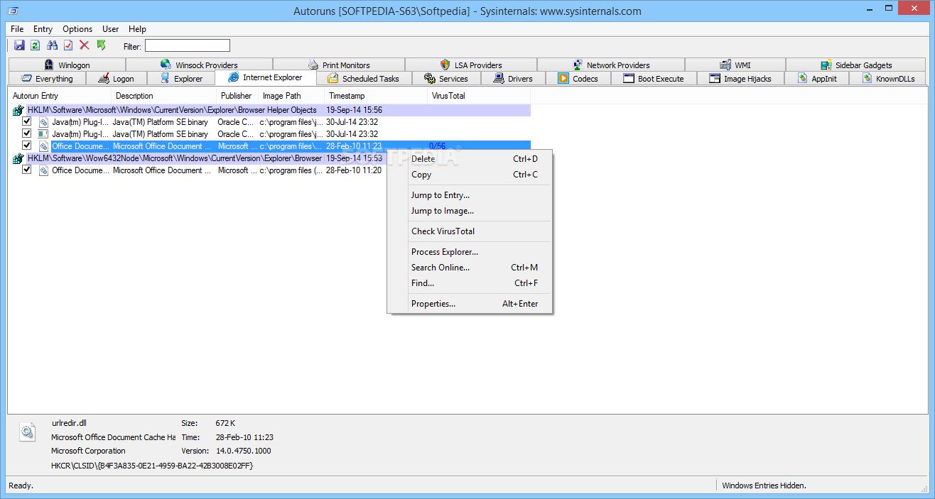 Download AutoRuns 13 96