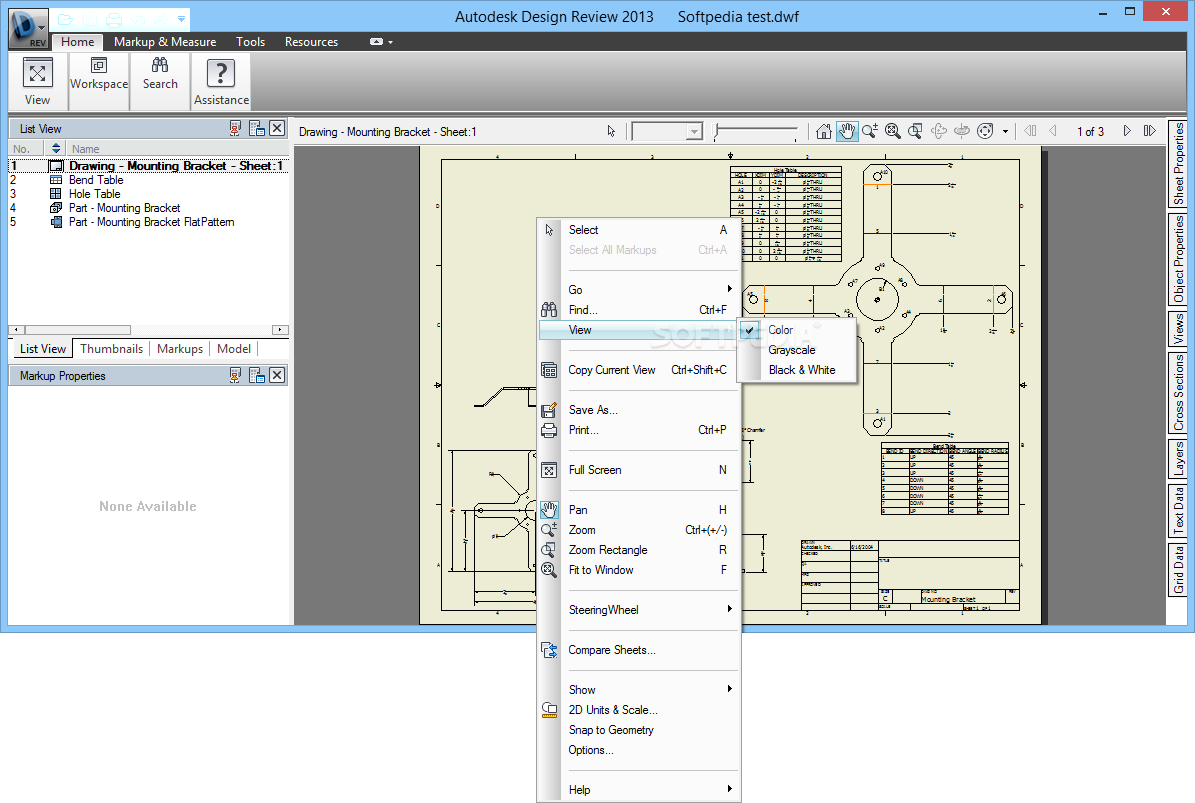 Autodesk Design Review - The application enables you to view and print 2D  and 3D designs ...