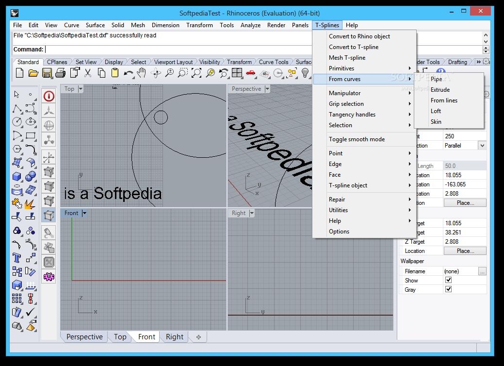 Download Autodesk T-Splines Plug-in for Rhino 3 3 r8031