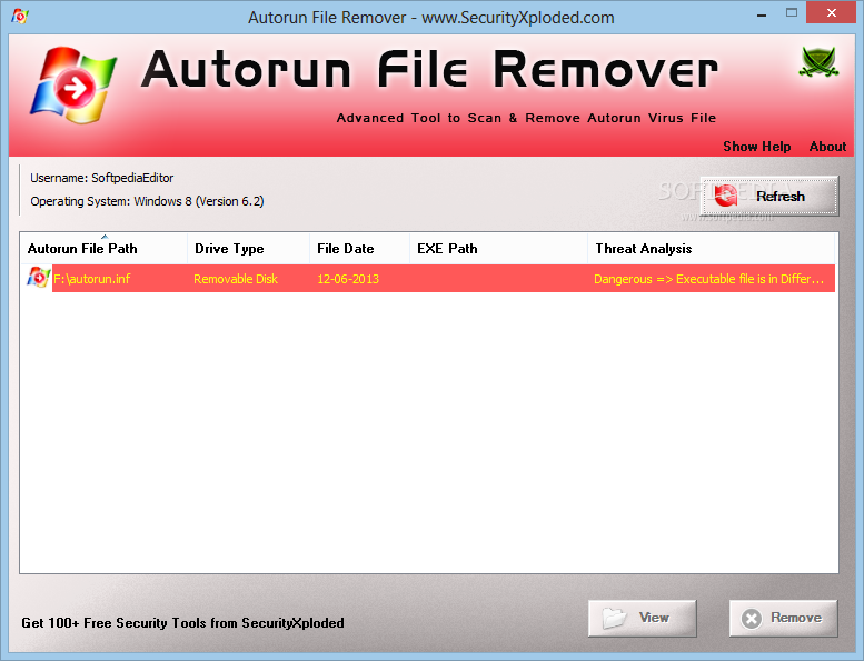 Portable autorun virus remover 2.3 download