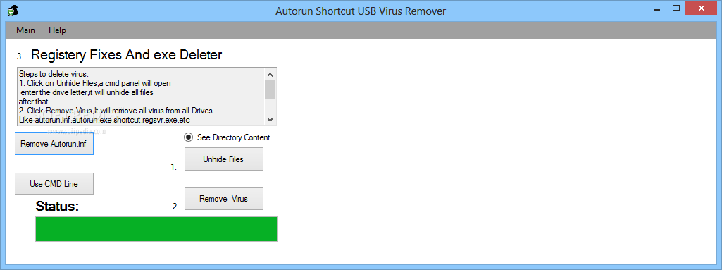 Download Autorun Shortcut USB Virus Remover 1 0 5 0