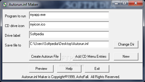 Download Autorun inf Maker 1 0