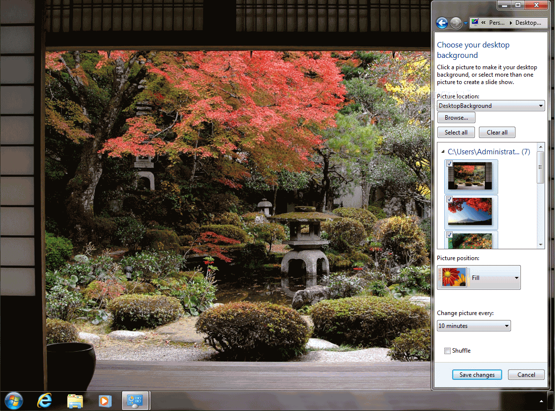 autumn color in japan theme download