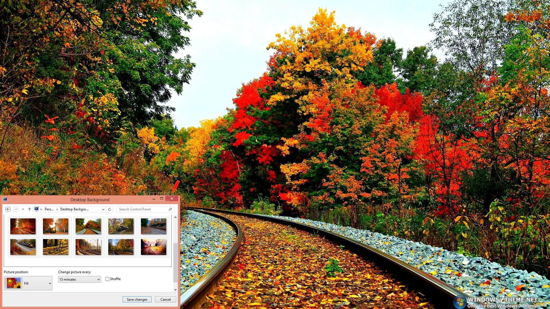 download autumn tracks windows 7 theme 1 00