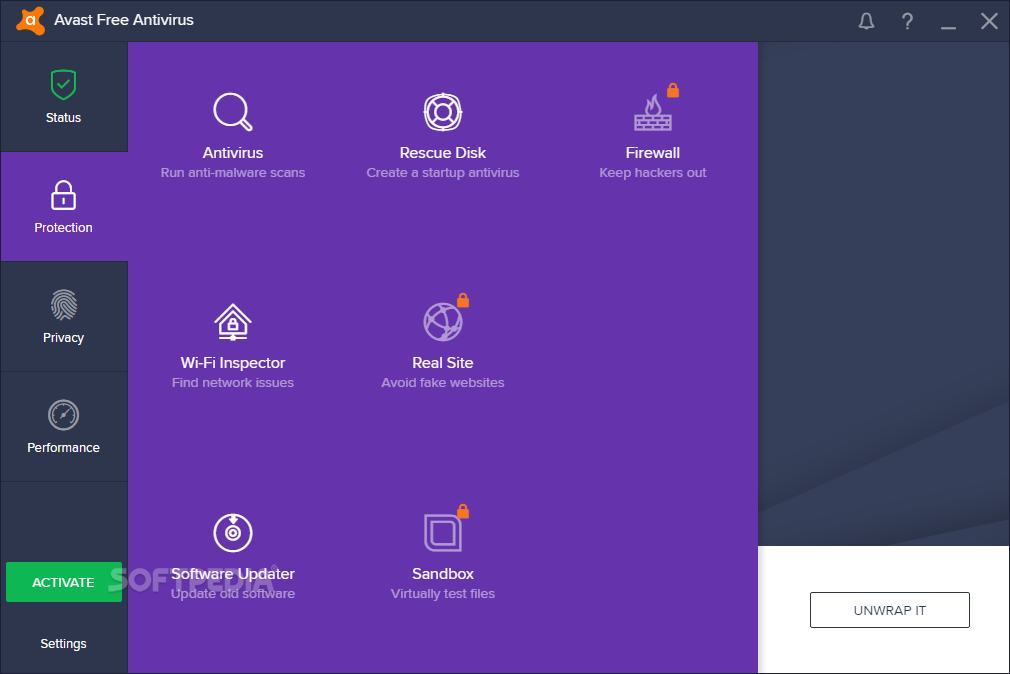 Avast free home virus protection