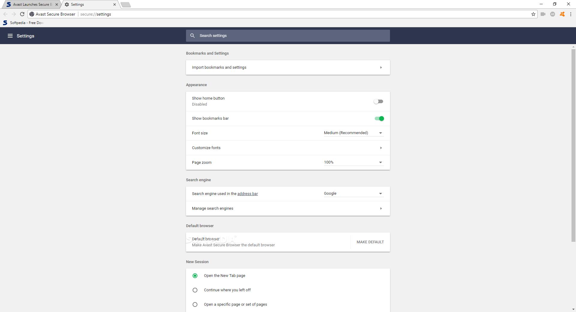 avast secure browser setup