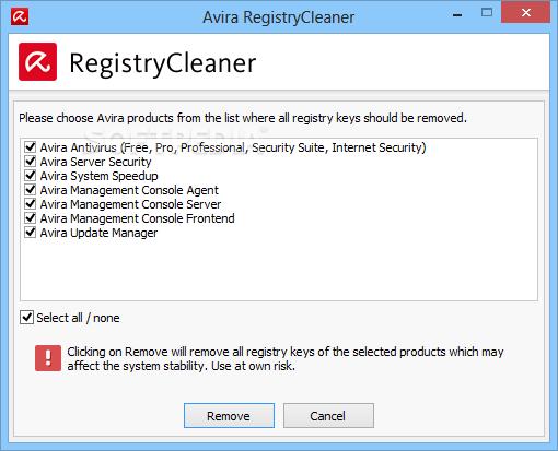 avira registry cleaner
