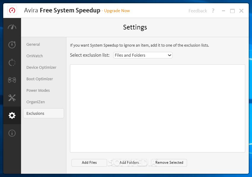 avira free system speedup 使い方