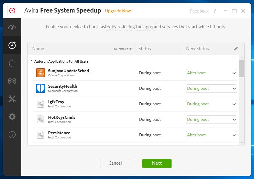 avira system speedup freeware