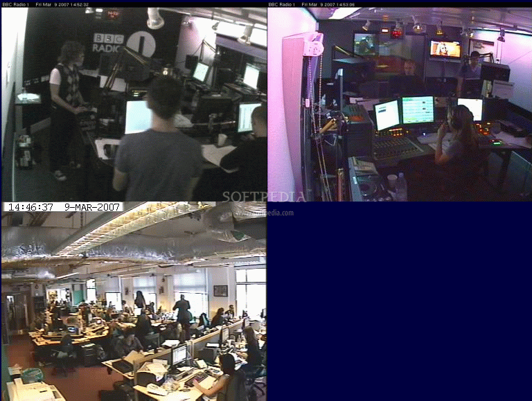 Screenshot 1 of BBC radio 1 Webcam viewer. The image below has been reduced ...