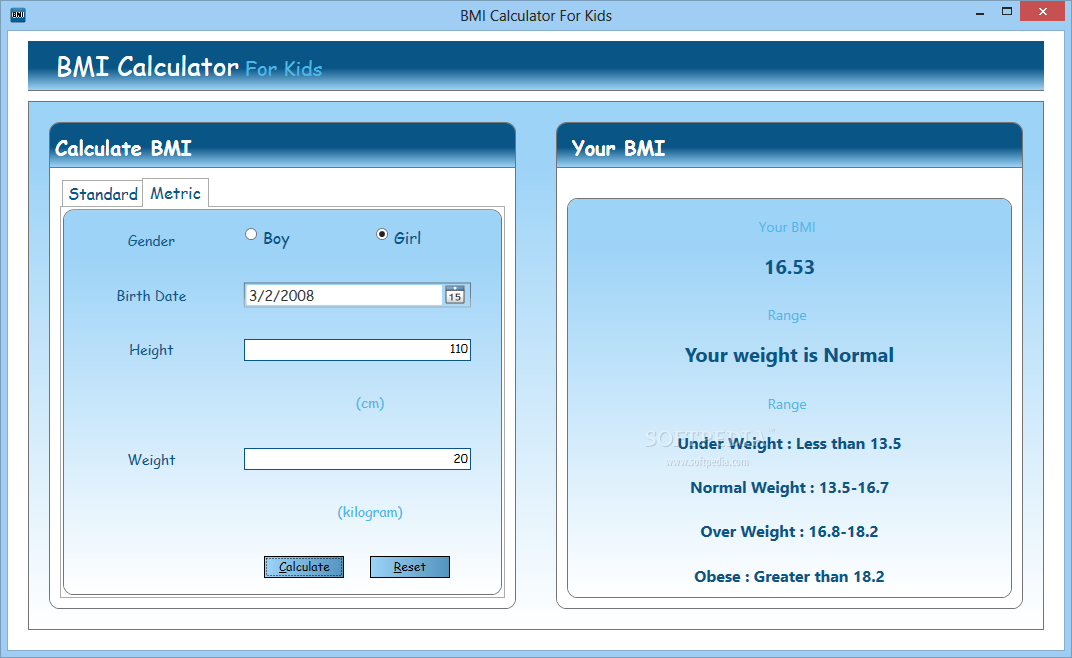 Download Bmi Calculator For Kids 100