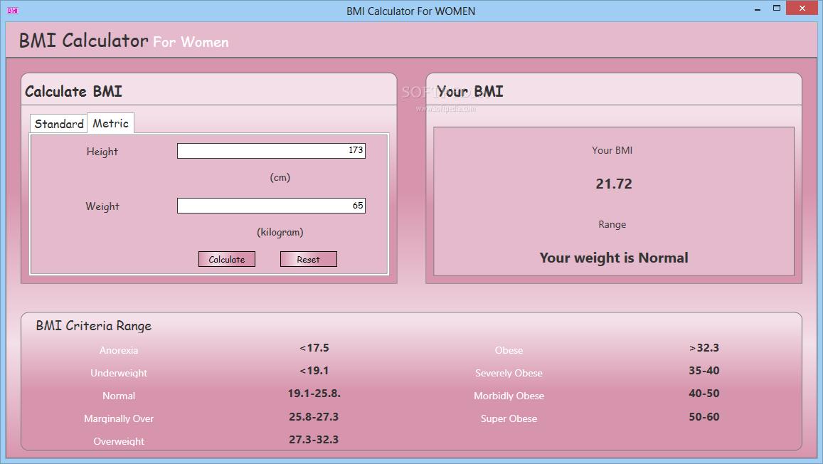 Download BMI Calculator for WOMEN 1 0