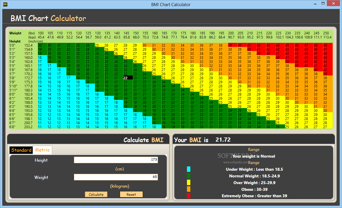 Download Bmi Chart Calculator 10