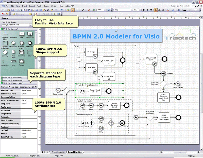 Bpmn 20 modeler for visio download ccuart Gallery