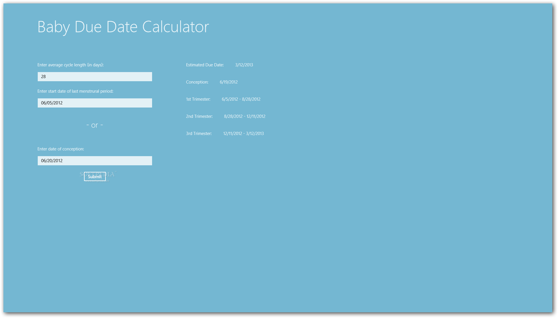 Due date calculator by conception date in Perth