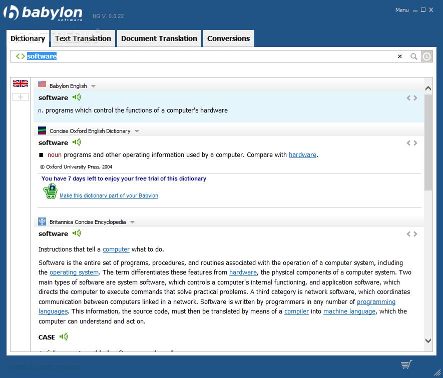 Download Babylon NG 0 1 r(0)