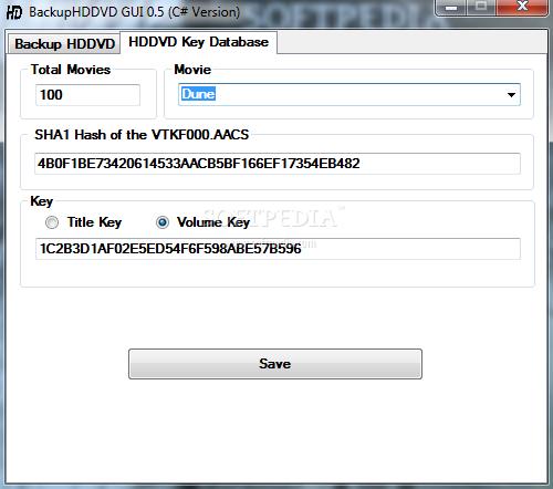 Download BackupHDDVD 0.5.0.0