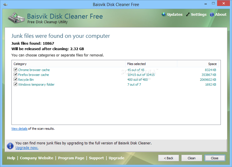 how to clean system junk win 10