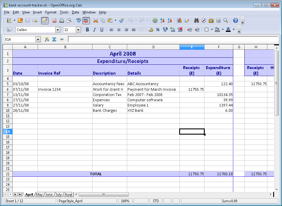 download bank account tracker 1 0
