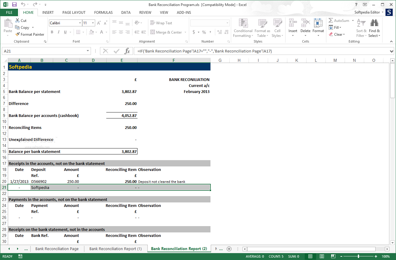 download bank reconciliation program 2 02