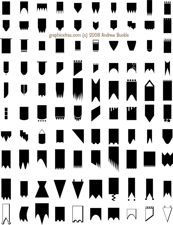 download banners custom shapes