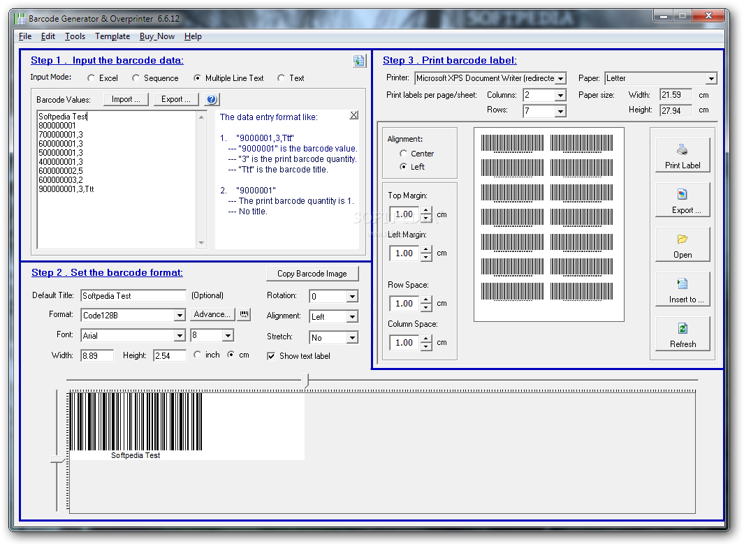 Barcode font download.