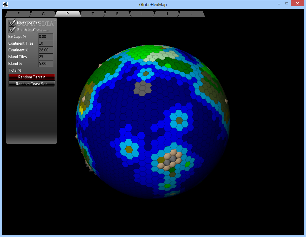 Earth Hex Map