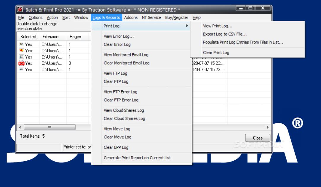 batch print windows 10 pdf