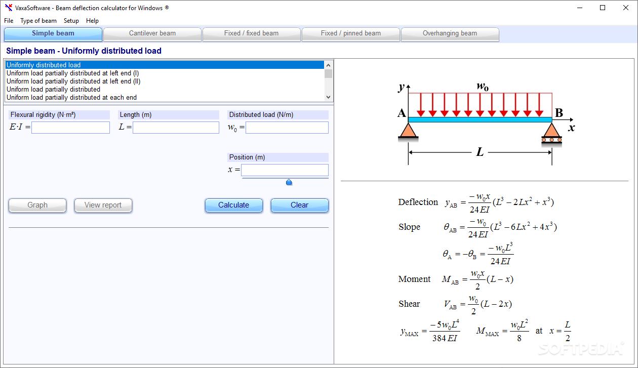 download beam deflection calculator for windows 1 12 0