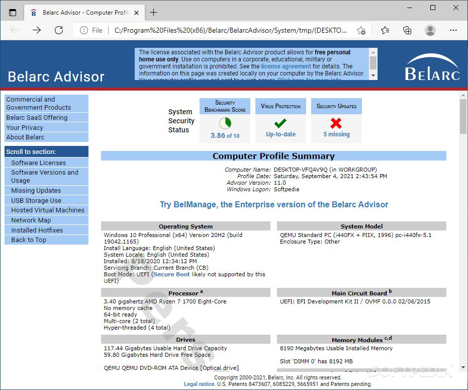 advisor belarc