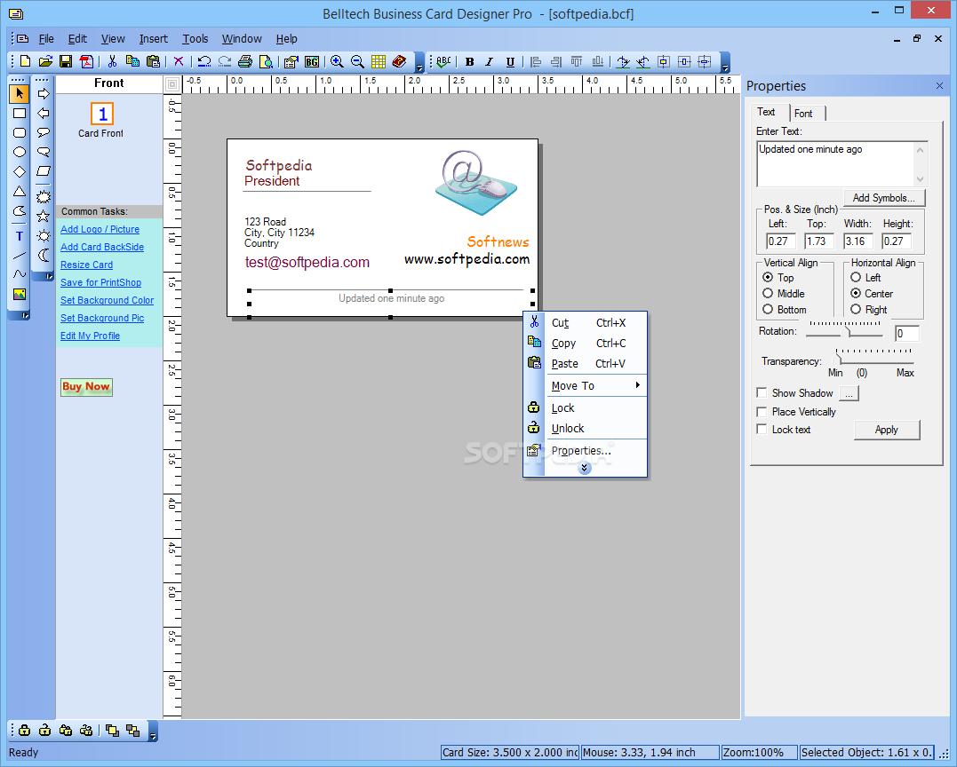 Download belltech business cards designer pro 541 reheart Images