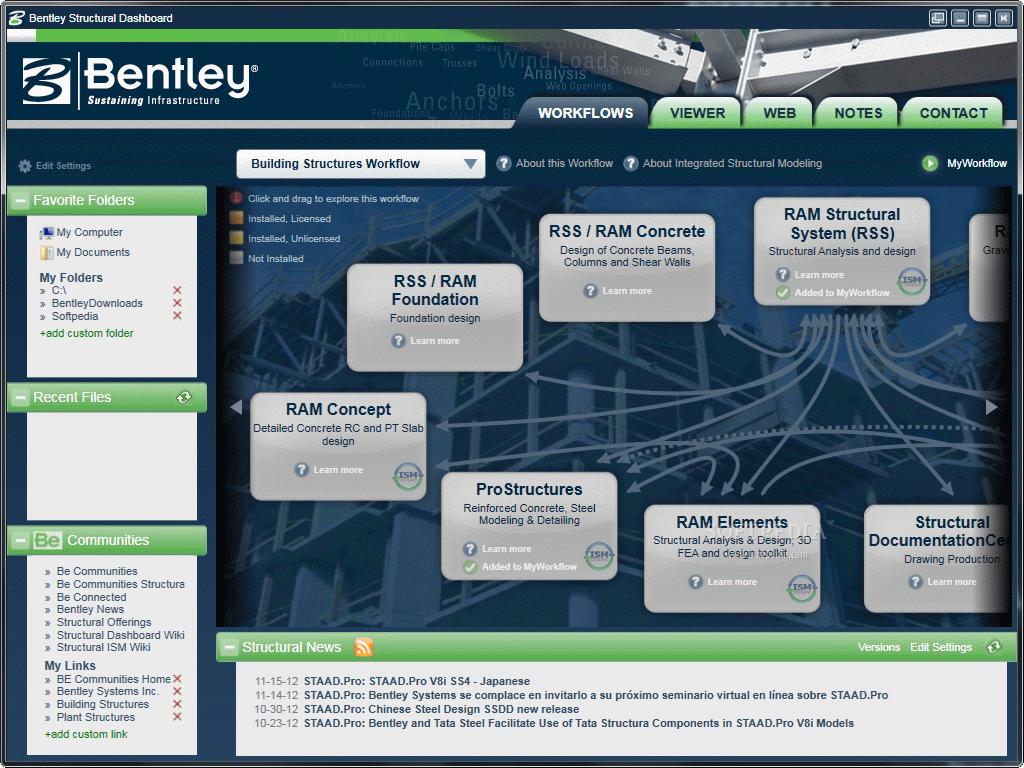 Download Bentley Structural Dashboard v8i 8 11 7 79