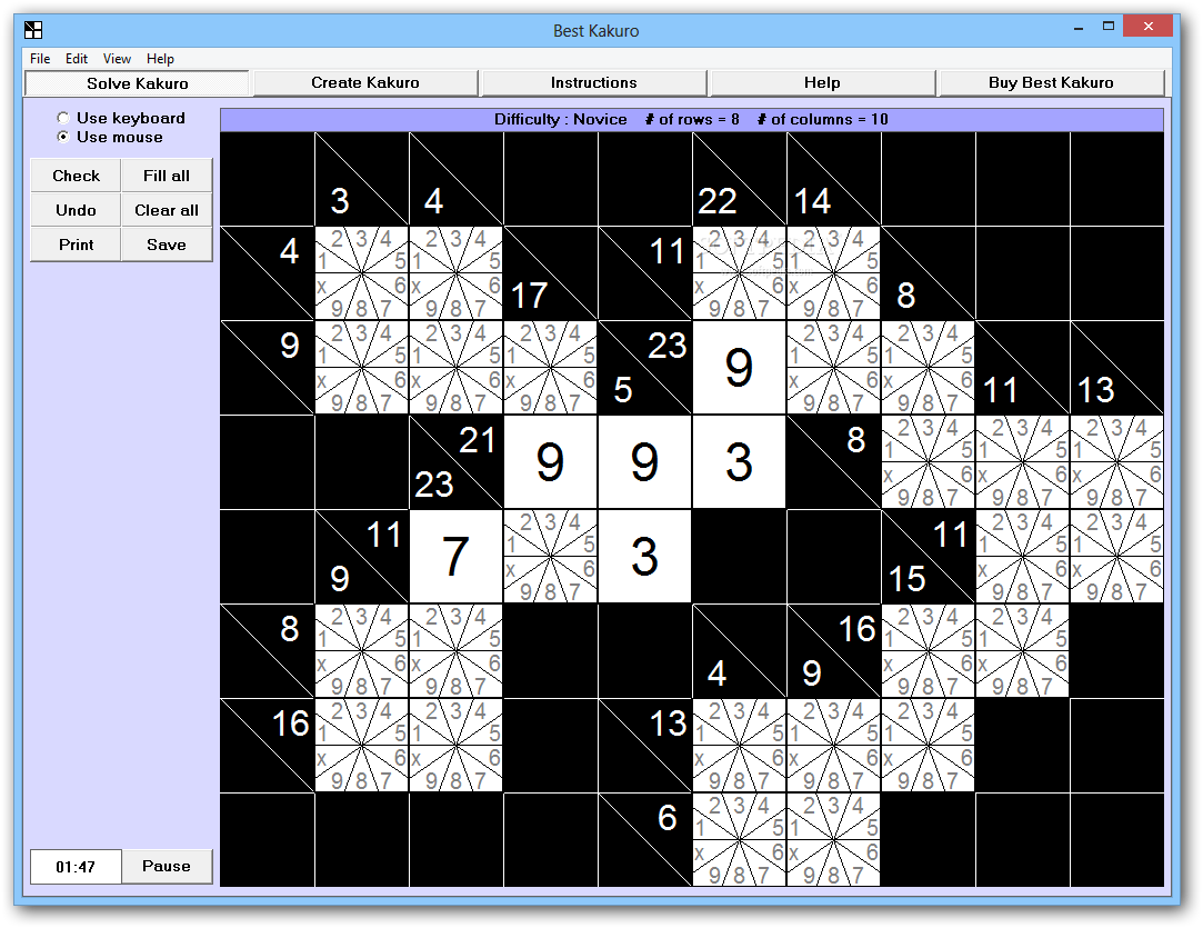 graphic relating to Kakuro Puzzles Printable called Down load Most straightforward Kakuro 4.0