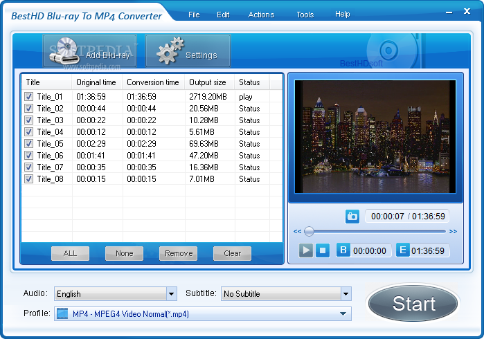 Convert blu ray to mp4 or mkv with megui guide tools