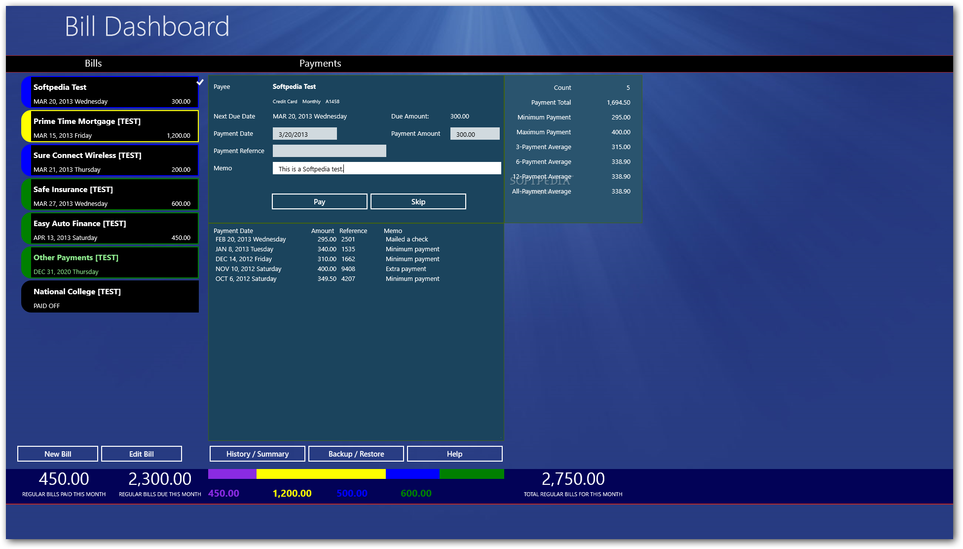 Download Bill Dashboard For Windows 10 8 1 1 2 0 0