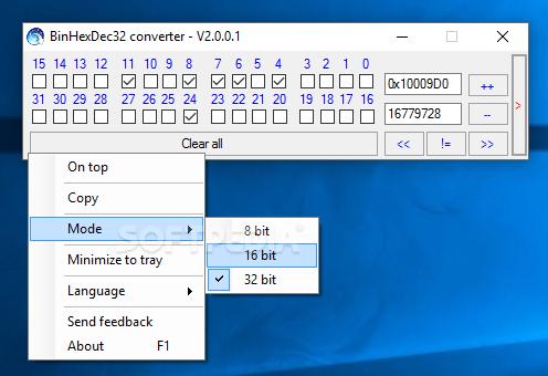 Download BinHexDec32 converter 2 0 0 1