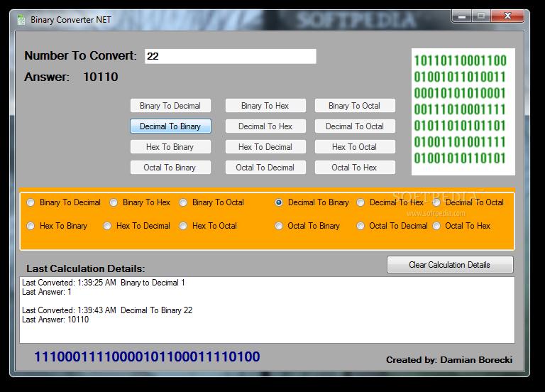 Download Binary Converter NET 1 0 0 0
