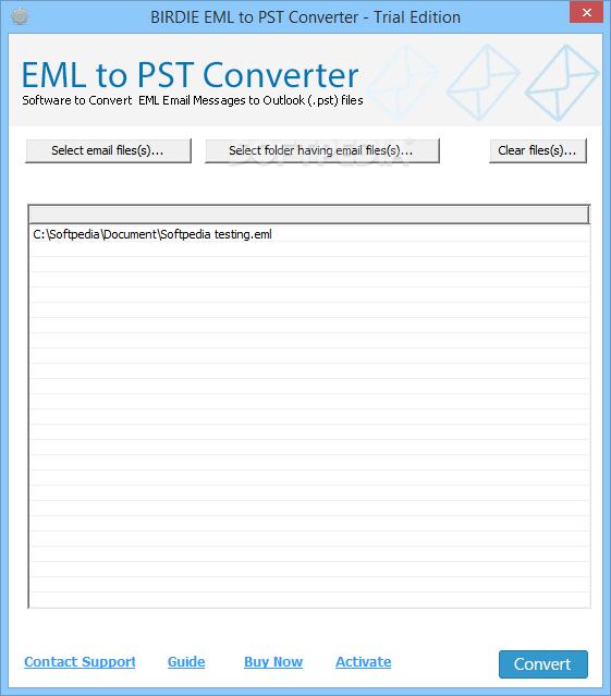 Download Birdie EML to PST Converter 8 0