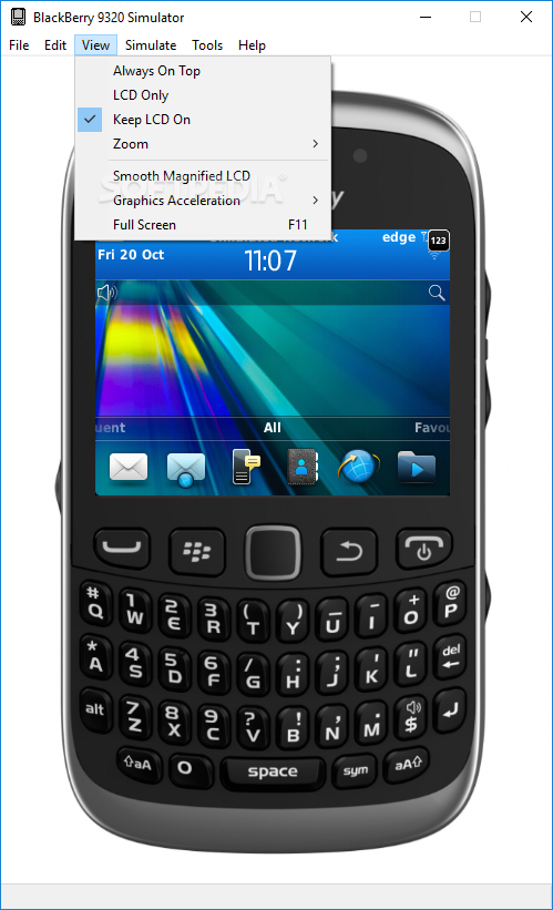 Download BlackBerry 9320 Simulator 7 1 0 523