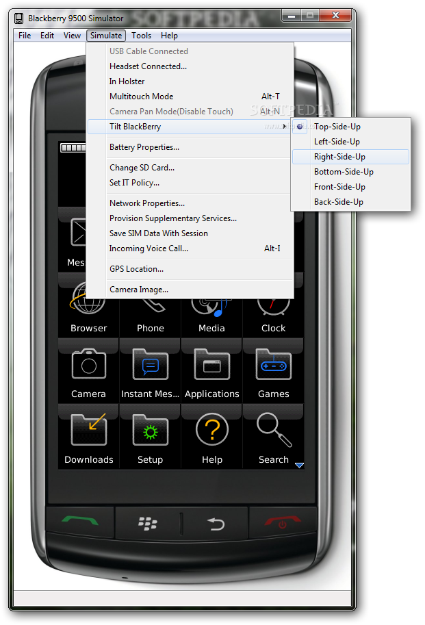 Download BlackBerry 9500 Simulator 470141