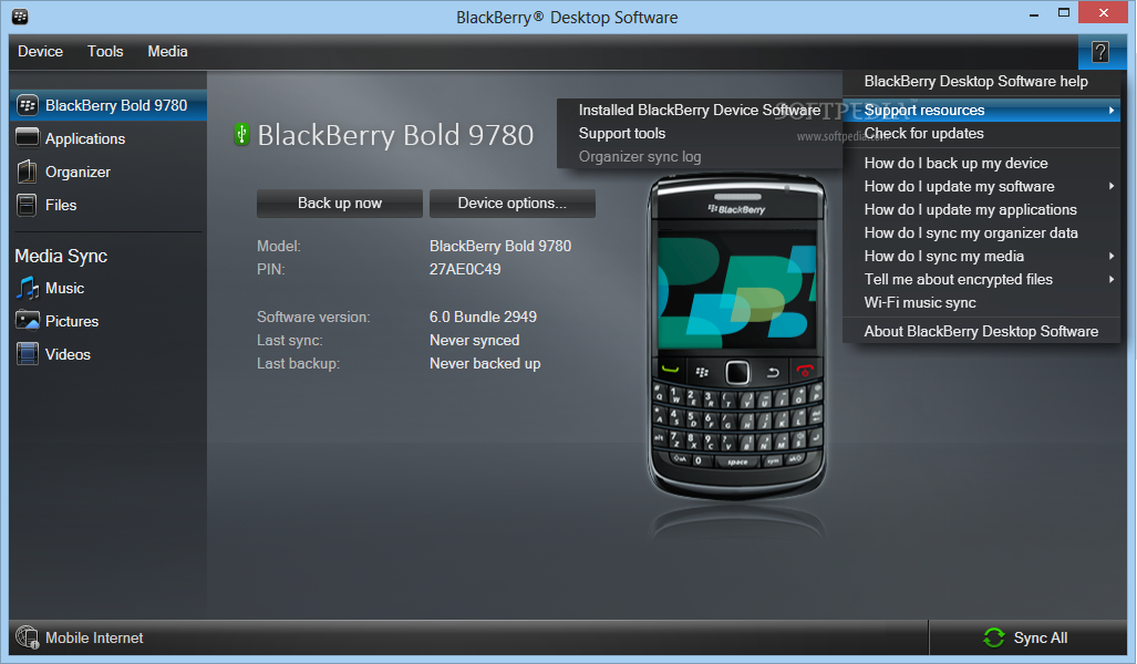 blackberry desktop manager 7.1.0.41