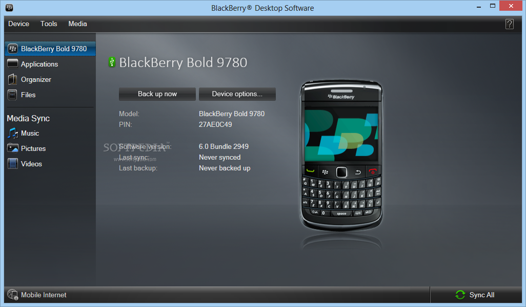 Download BlackBerry Desktop Software 7 1 0 41 Bundle 42