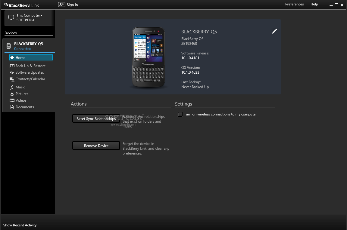 Blackberry link z10 скачать