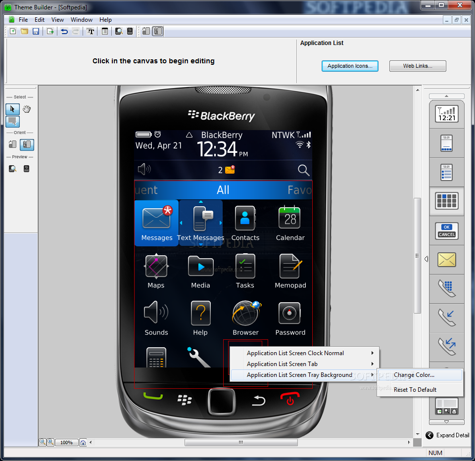 Download BlackBerry Theme Studio 6 0