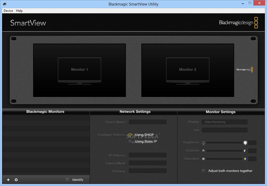 Download Blackmagic SmartView Utility 4 0 3