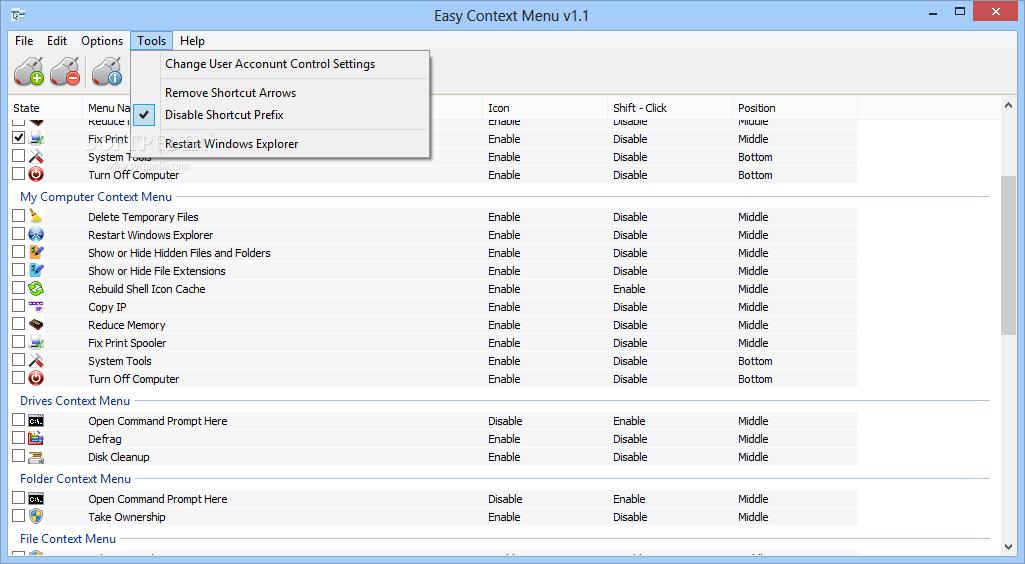 download easy context menu