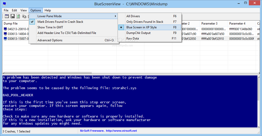 Free Download BlueScreenView Terbaru | Aplikasi Scaner Penyebab BlueScreen Windows
