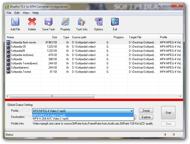 Download Bluefox FLV to MP4 Converter 3 01 12 1008