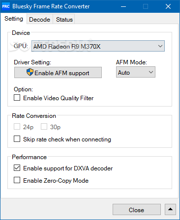 Download Bluesky Frame Rate Converter Portable 2 15 3