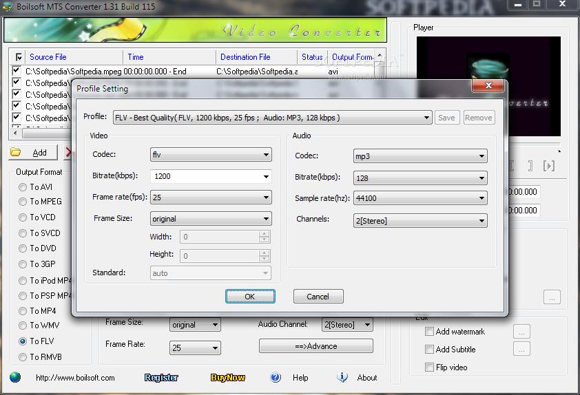 Download Boilsoft MTS Converter 1.51 Build 116